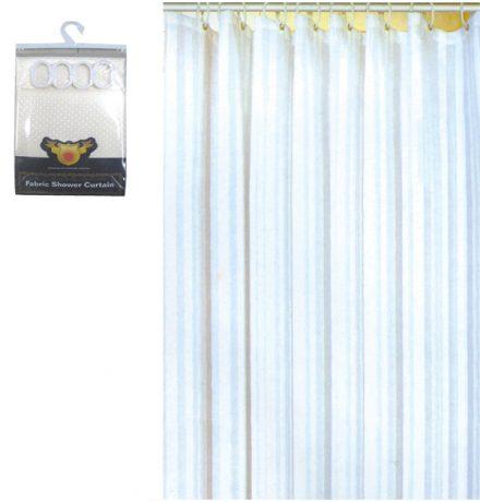 Σετ Κουρτίνα μπάνιου νάιλον Ύψους 180cm Σε Λευκό Χρώμα με Κρίκους - Cb
