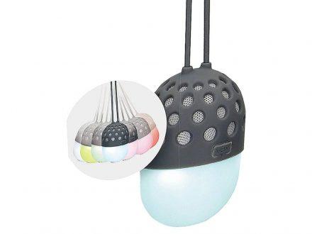 Φορητό Αδιάβροχο Ηχείο Bluetooth 3W Μπαταρίας 450mAh με Λαβή Σιλικόνης για Κρέμασμα και RGB LED με Εναλλαγή 7 χρωμάτων