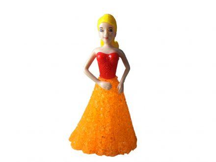Διακοσμητικό Φωτιστικό LED Κοπέλα με Πορτοκαλί Φόρεμα