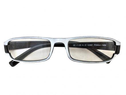 Lifetime Vision Unisex Γυαλιά Πρεσβυωπίας Διαβάσματος με Λεπτό Μαύρο-Λευκό σκελετό και βαθμό +1.00