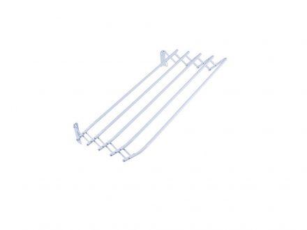Πτυσσόμενη Απλώστρα Τοίχου 100cm με 5 ράγες σε Λευκό χρώμα