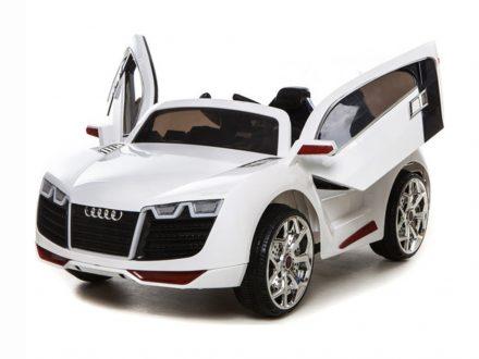 Παιδικό Ηλεκτροκίνητο Αυτοκίνητο τύπου Audi R8 με τηλεχειριστήριο Bluetooth 12V σε Λευκό χρώμα