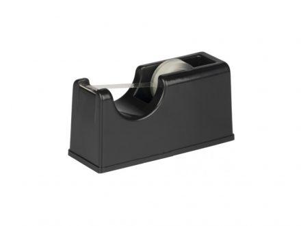 Topwrite Πλαστική Βάση Σελοτέιπ 15x5.8x7.5cm σε Μαύρο χρώμα με 1 ταινία