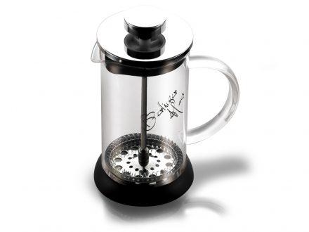 Berlinger Haus Χειροκίνητη Καφετιέρα για Γαλλικό και Τσάι 350ml από Γυαλί και Ανοξείδωτο ατσάλι