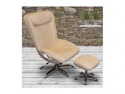 Θερμαινόμενη Πολυθρόνα Relax με Υποπόδιο σε Μπεζ χρώμα