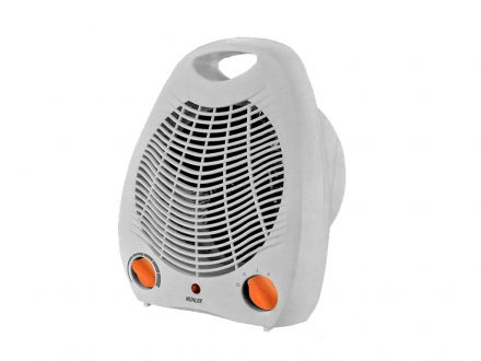 Muhler Αερόθερμο δαπέδου 2000W με 2 Επίπεδα Θέρμανσης και Λειτουργίες Ψυχρού και Θερμού αέρα σε Λευκό χρώμα