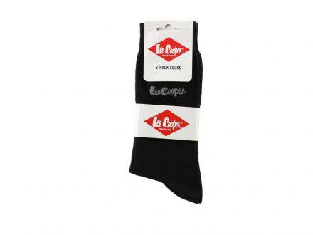 Lee Cooper Ανδρικές Κάλτσες σετ 3 ζευγαριών σε Μαύρο χρώμα