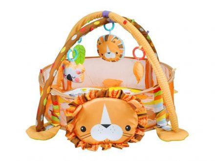 Εκπαιδευτικό  Παιδικό Γυμναστήριο και Πάρκο για μωρά με θέμα Λιοντάρι και 30 μικρές πλαστικές μπάλες