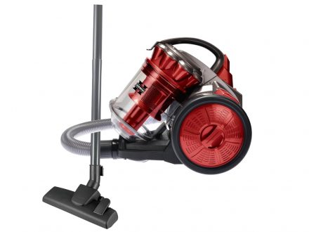Ηλεκτρική Σκούπα max 1200W με σύστημα Cyclone χωρίς σακούλα σε Κόκκινο Μαύρο χρώμα