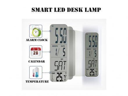 Φωτιστικό Ξυπνητήρι με οθόνη LED και Θερμόμετρο - Cb