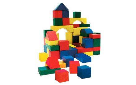 Wooden Toys Σετ από 75 τεμ. Ξύλινα Τουβλάκια σε συσκευασία μεταφοράς για ατέλειωτες ώρες παιχνιδιού και δημιουργίας κατάλληλο για παιδιά άνω των 3 ετών