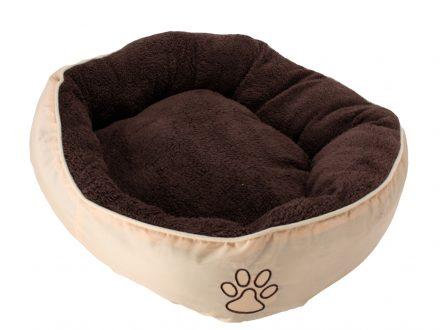 Μαλακό κρεβάτι σκύλου και άλλων κατοικιδίων LUX σε Καφέ/Μπεζ χρώμα και διαστάσεις 52x50x18cm