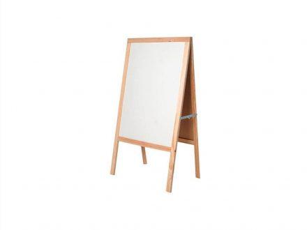 Επαγγελματικός Ξύλινος Πίνακας Μαρκαδόρου με 2 Όψεις σε Λευκό χρώμα