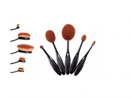 Σετ Επαγγελματικά πινέλα μακιγιάζ 5 τεμαχίων σε σχήμα βούρτσας από συνθετική τρίχα