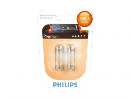 Philips Σετ Λάμπες Αυτοκινήτου C10W - Festoon 2 τεμάχια 12V 10W