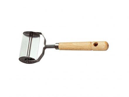 Εργαλείο Κουζίνας Κόφτης Ζύμης Ζυμαρικών από Ανοξείδωτο Ατσάλι και Ξύλο Οξιάς για κόψιμο Cappelletti