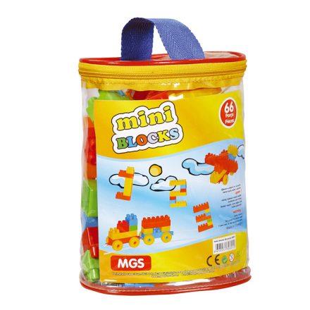 Σετ Παιδικά Πολύχρωμα Μίνι Τουβλάκια 66 τεμ Με Τσάντα Μεταφοράς - Cb