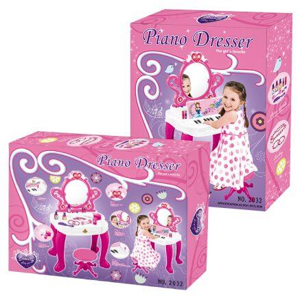 Παιχνίδι Σετ Τουαλέτα Μπαταρίας με Πιανάκι 57x44cm για ηλικίες άνω των 3 ετών σε ροζ και λευκό χρώμα