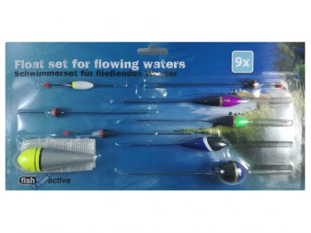 Fish Active Σετ Ψαρέματος με 9 Πλωτήρες για Τρεχούμενα Νερά