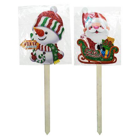 Χριστουγεννιάτικο Ξύλινο Διακοσμητικό Μπαστούνι Γίγας σε 2 σχέδια