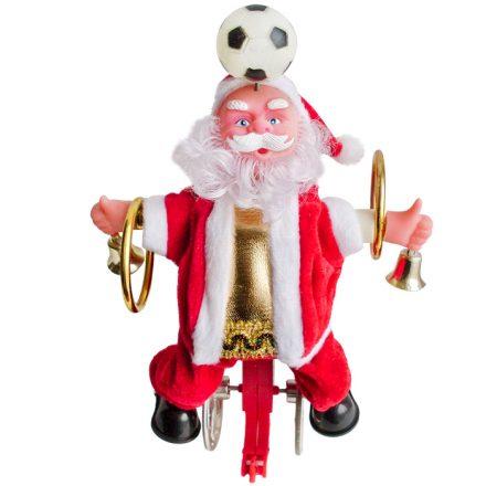 Χριστουγεννιάτικος διακοσμητικός  Φωτιζόμενος Άγιος Βασίλης Ακροβάτης που κινείται