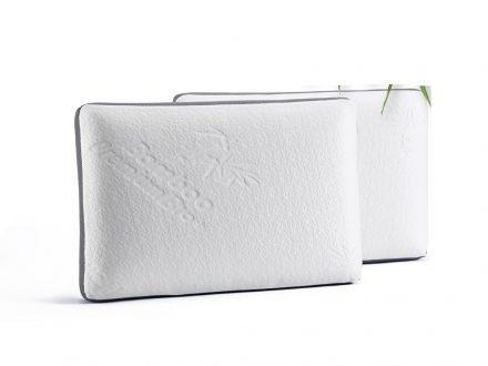 Ανατομικό Υποαλλεργικό Μαξιλάρι Ύπνου Bamboo από 100% Memory Foam σε Λευκό Χρώμα