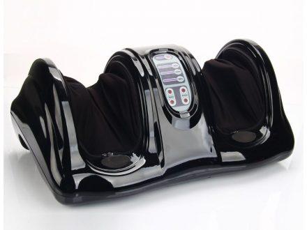 Αναπαυτική Τρισδιάστατη Συσκευή Μασάζ Ποδιών με 4 διαφορετικά Προγράμματα και τηλεχειριστήριο σε Μαύρο χρώμα