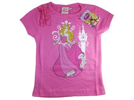 Disney 32127 Παιδικό Κοριτσίστικο Κοντομάνικο Μπλουζάκι Princess με Λαιμόκοψη σε Ροζ χρώμα - Disney