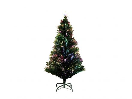 Τεχνητό Χριστουγεννιάτικο Δέντρο τύπου Έλατο με Οπτικές Ίνες ύψους 150cm με μεταλλική βάση - OEM