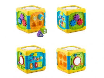 Κύβος Δραστηριοτήτων Πολύχρωμος με μουσική και φώτα για Μωρά 20cm
