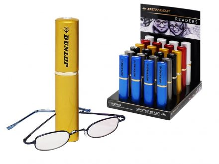 Dunlop Unisex Γυαλιά Πρεσβυωπίας Διαβάσματος σε Κίτρινη Θήκη