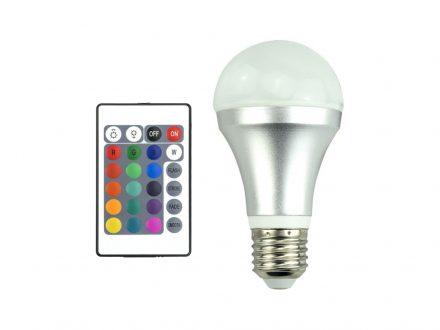 Λάμπα RGB 3528 LED E27 4W με 16 επιλογές χρωμάτων
