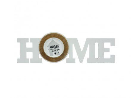 Arti Casa Διακοσμητική Ξύλινη Κορνίζα 40x12.5x1.8cm με θέμα 'Home' και θέση για μία φωτογραφία σε λευκό χρώμα