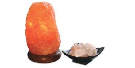 Q-MAX Jocca Φωτιστικό Πέτρα Ιμαλαΐων από αλάτι 10.2x17.1 cm