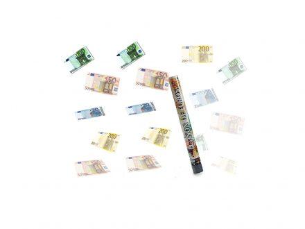 Κομφετί κανονάκι με θέμα χαρτονομίσματα EURO