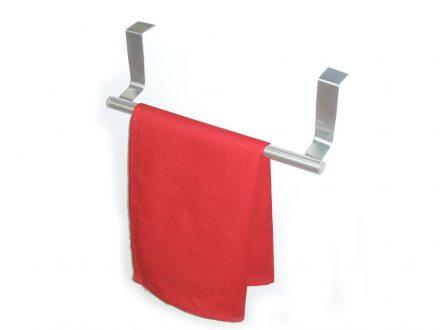 Κρεμάστρα πόρτας για ντουλάπια κουζίνας και μπάνιου σε χρώμα ασημί