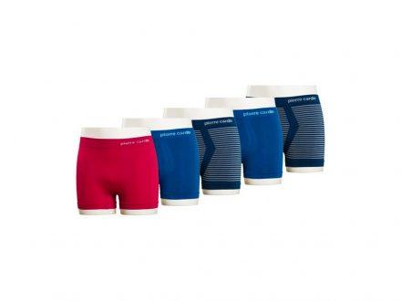 Pierre Cardin Σετ 5 Ανδρικά Εσώρουχα Μποξεράκια Πακέτο 5 τεμ. Boxers 5-pack που αποτελείται από 2 Μπλε Navy με λευκές ρίγες