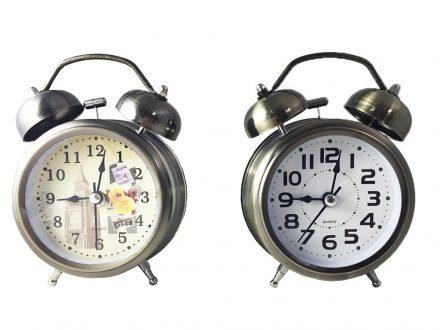 Μεταλλικό Vitage Ρολόι Ξυπνητήρι Με Φως