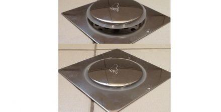 Ανοξείδωτο Στεγανό Σιφόνι Μπάνιου Τύπου Pop Up - Ταψάκι 12x12cm με Σιφώνι 8cm - OEM