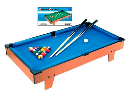 Ξύλινο Επιτραπέζιο Παιχνίδι Μπιλιάρδο Snooker 51x31