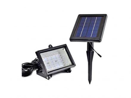 Ηλιακός Solar Προβολέας με 30 LED Ψυχρού Λευκού Χρώματος και Φωτοβολταϊκό Πάνελ με Βάση στήριξης για χώμα - OEM