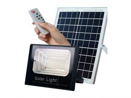 Ηλιακός Solar Προβολέας Αδιάβροχος 60W με Φωτοβολταϊκό Πάνελ