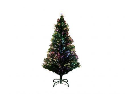 Τεχνητό Χριστουγεννιάτικο Δέντρο τύπου Έλατο με πολύχρωμες Οπτικές Ίνες ύψους 120cm με βάση - Cb