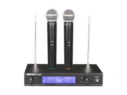 Ψηφιακή Studio Quality Συσκευή για Karaoke Καραόκε με 2 Ασύρματα Μικρόφωνα