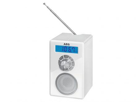 AEG Mini Φορητό Ραδιοφωνάκι Ξυπνητήρι Bluetooth με υποδοχή AUX-IN