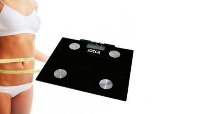 Jocca 7148 Ψηφιακή Ζυγαριά Λιπομετρητής Μπάνιου σε Μαύρο χρώμα - JOCCA home & life