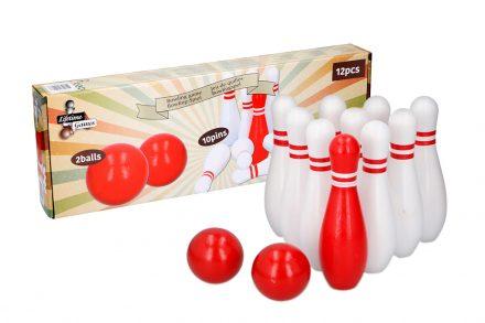 Σετ Ξύλινο Bowling 12 τεμαχίων