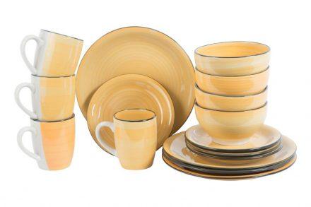 Trento Σετ 4 Σερβίτσια Δείπνου 16 τεμ. με Πιάτα