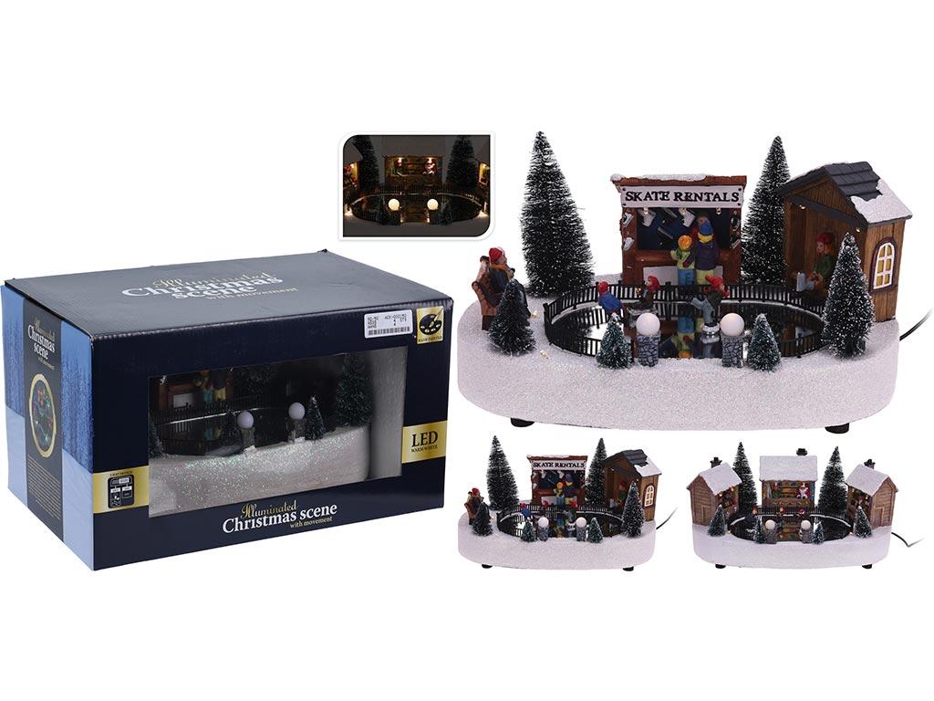 Χριστουγεννιάτικο Φωτιζόμενο Διακοσμητικό Παγοδρόμιο