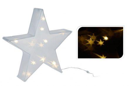 Διακοσμητικό Χριστουγεννιάτικο Αστέρι με 20 Led και λευκό Φωτισμό